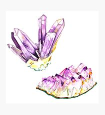 Amethyst Crystal and Geode Photographic Print