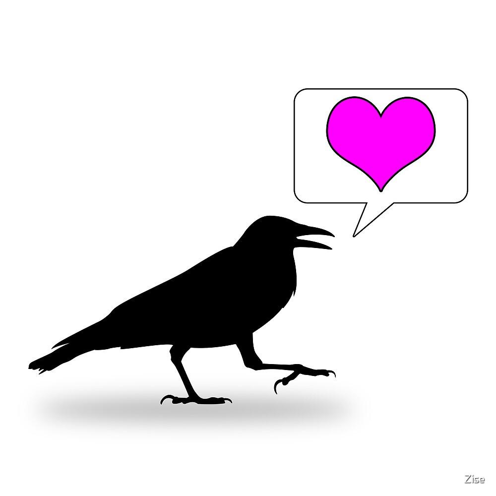 Caw, love! by Michael Reid