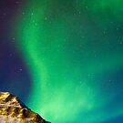 Gruvefjellet in Polar Lights by Algot Kristoffer Peterson