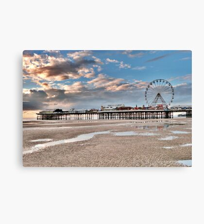 Sunset over South Pier Canvas Print