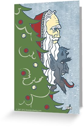 Krampus and St. Nicklaus by dawlism