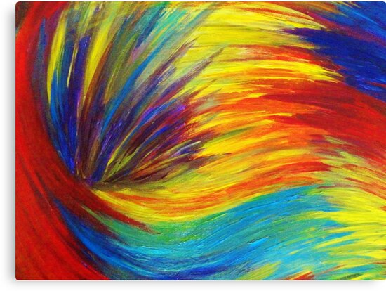 Quot Rainbow Explosion Vibrant Smile Happy Colorful Red