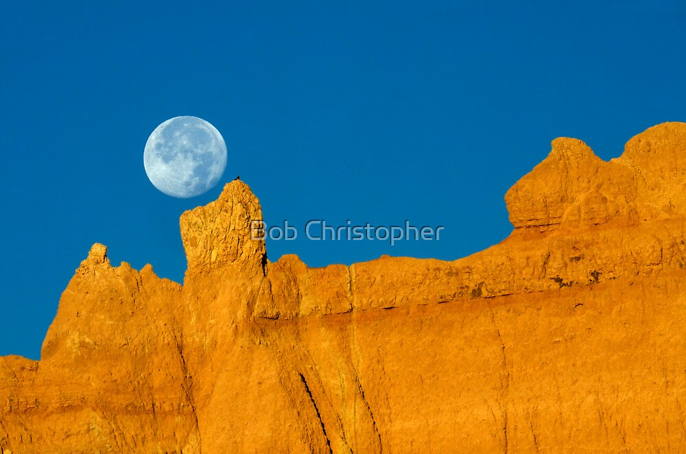 Moon Over Sandstone by Bob Christopher