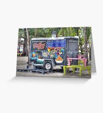 Food Van at Arawak Cay in Nassau, The Bahamas Greeting Card