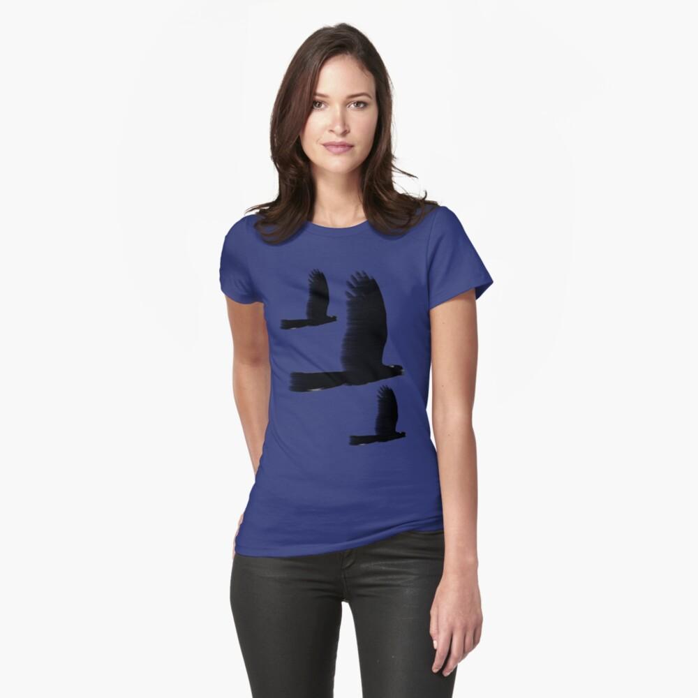 Black Cockatoos Womens T-Shirt Front