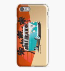 21 Window VW Bus Teal in Desert iPhone Case/Skin