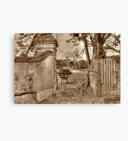 Historical Ruins on West Bay Street in Nassau, The Bahamas Canvas Print