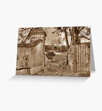 Historical Ruins on West Bay Street in Nassau, The Bahamas Greeting Card