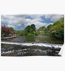 The Riverside and Weir, Bakewell  Poster