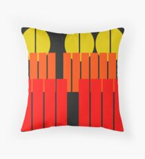 Urban Abstract - Sunset Autumn Throw Pillow