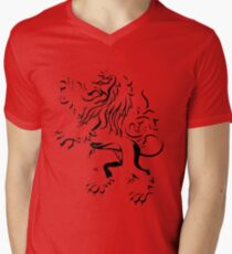 lion crest Men's V-Neck T-Shirt