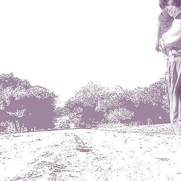 Down the road (purple) by cloudheadART