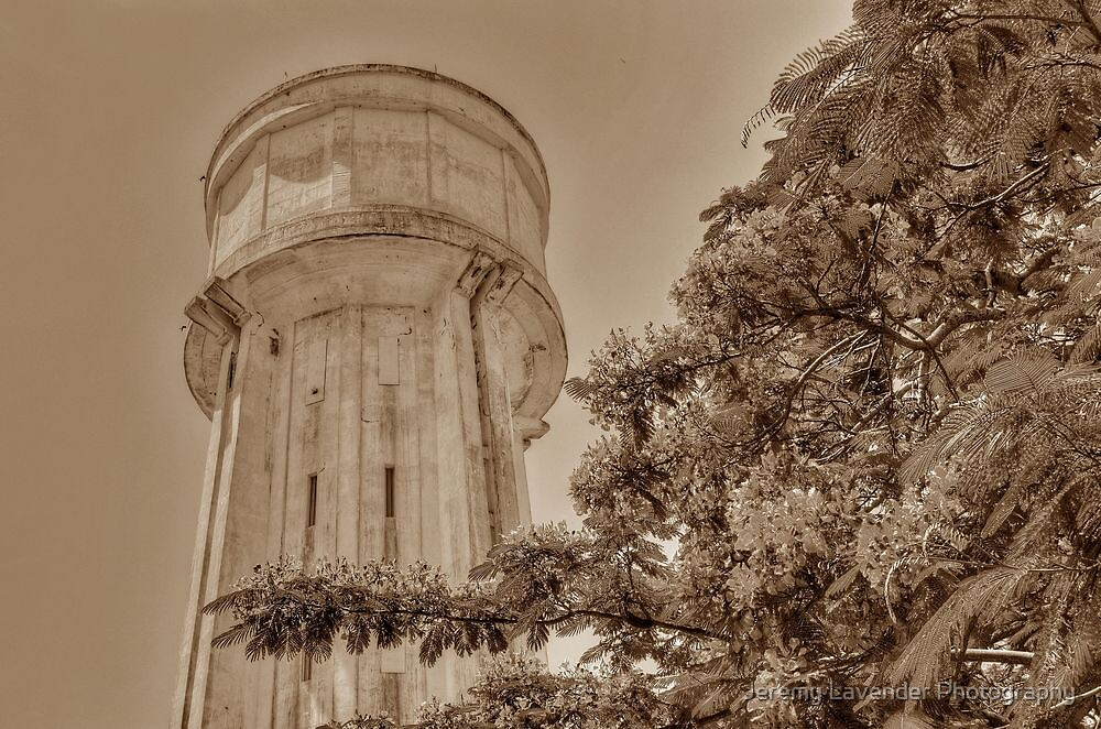 Water Tower in Nassau, The Bahamas by Jeremy Lavender Photography
