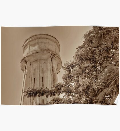 Water Tower in Nassau, The Bahamas Poster