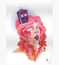 The Girl with the TARDIS in her Hair Poster