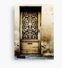 Door in Langres Canvas Print