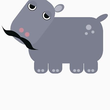 Moustached Hippo by sandypants