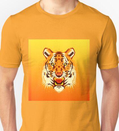Geometric Tiger Head T-Shirt
