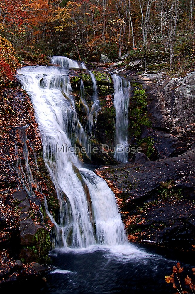 Fall Bald River Falls by Michelle DuBose