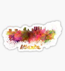 Atlanta skyline in watercolor Sticker