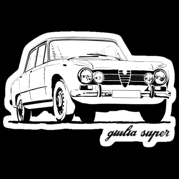 """Alfa Romeo Giulia Super"" Stickers By Aussie105"