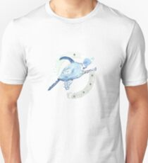 Blue Turtle in a Periscope Unisex T-Shirt