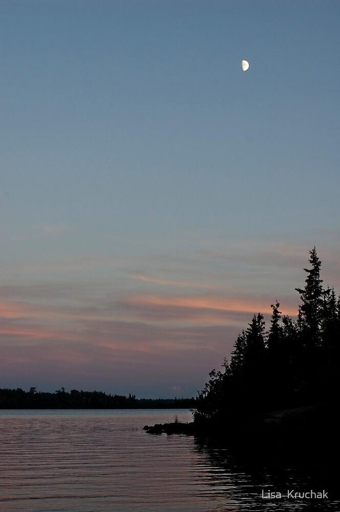 Lake sunset by Lisa  Kruchak
