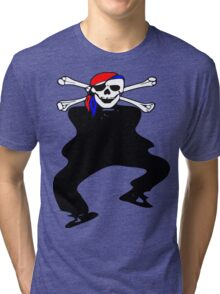 ★ټ Pirate Skull Style Hilarious Clothing & Stickersټ★ Tri-blend T-Shirt