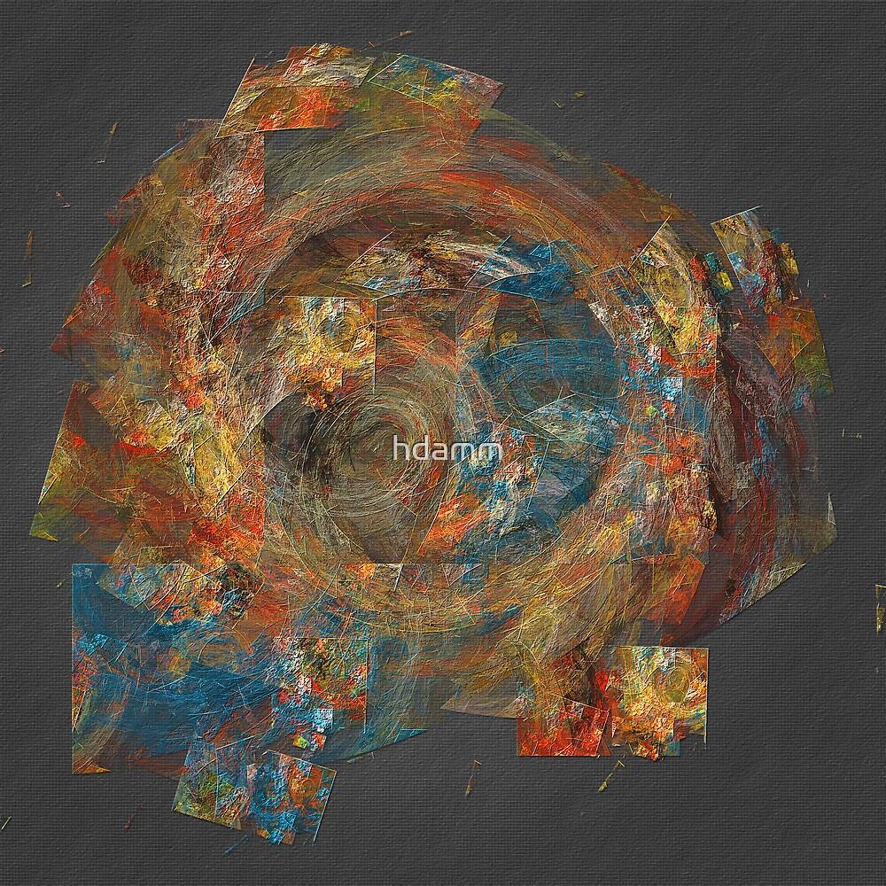 Orange Blue Swirl by hdamm