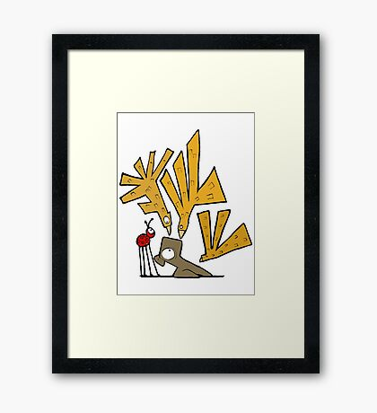 Bird Attack! Framed Print