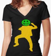 ★ټVampire Smiley Style Hilarious Clothing & Stickersټ★ Women's Fitted V-Neck T-Shirt