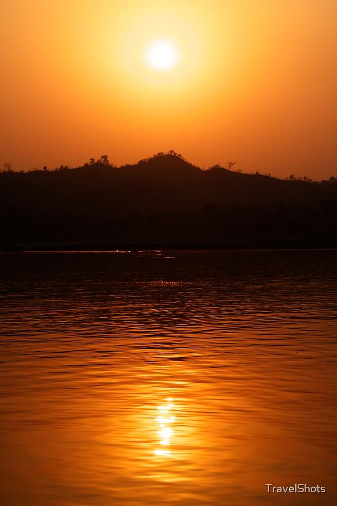 Ayeyarwady River Sunset - Burma by TravelShots