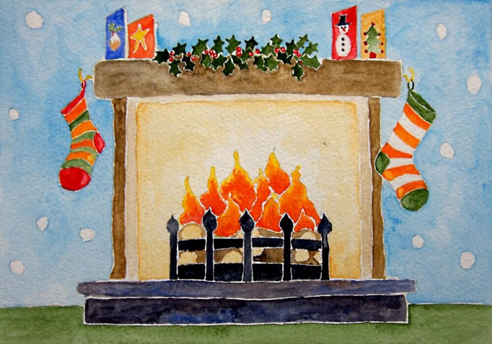 Christmas fireplace by sadiejane