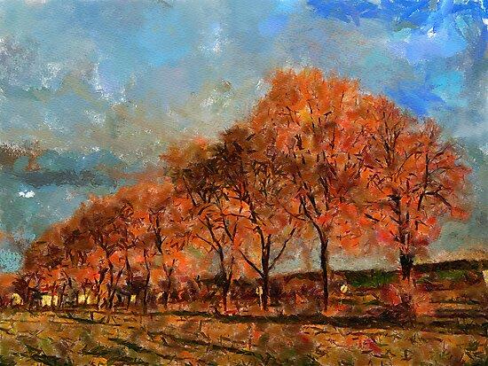 autumn road by bogfl