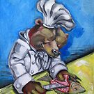 "Carnivorous Chef ""The Bear"" by Ellen Marcus"