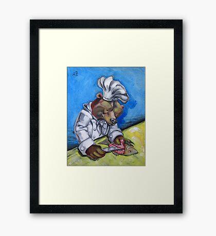 "Carnivorous Chef ""The Bear"" Framed Print"