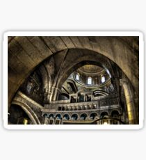 Israel, Jerusalem Old City, Interior of the Church of the Holy Sepulchre Sticker