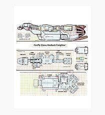 Serenity Firefly floorplan schematics Photographic Print