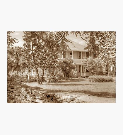 Old Plantation Style Property in Eastern Nassau, The Bahamas Photographic Print