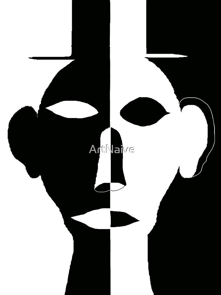 Black & White Face by ArtNaive