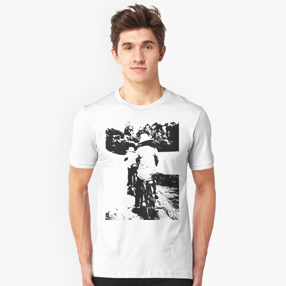 On the road... bicycles Unisex T-Shirt Front
