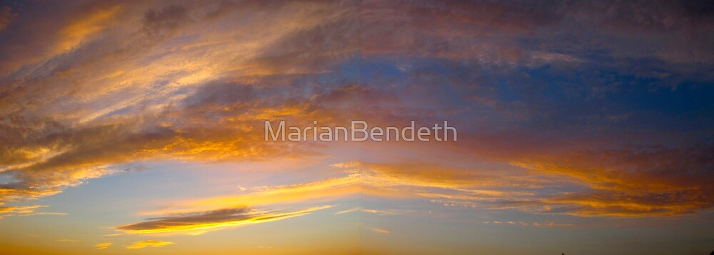 The clouds above in radiant hues by MarianBendeth