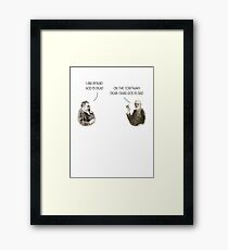 God is dad Framed Print