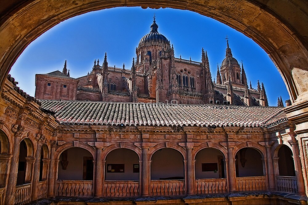 Spain. Salamanca. New Cathedral. View from the University courtyard. by vadim19