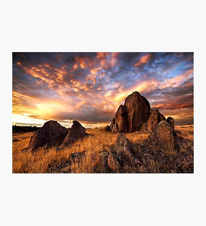 On Fire Mountain Photographic Print
