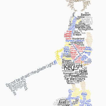 Kingdom Hearts Sora Typography by triforce15