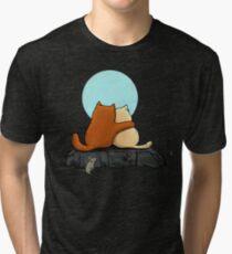 Two Cats Tri-blend T-Shirt