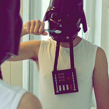 Darth Vader brushing his teeth by Chickitaz