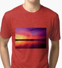 Sunset on Moreton Bay Tri-blend T-Shirt