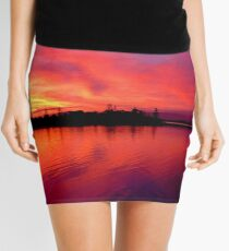 Sunset on Moreton Bay Mini Skirt